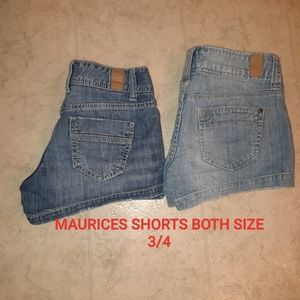 2 PAIRS OF MAURICE'S SHORTS